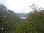 Utsikt nedover til Aurdalsvatnet